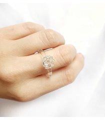 crystal - szklany pierścionek z kuleczkami