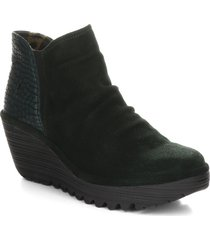 women's fly london yamy wedge bootie, size 9-9.5us - green