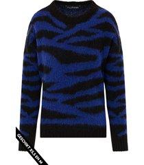 zebra trui dames kobalt