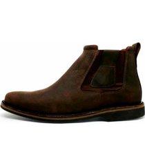 bota botina cano curto em couro top franca shoes café