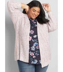 lane bryant women's long-sleeve sweater cardigan 26/28 multi