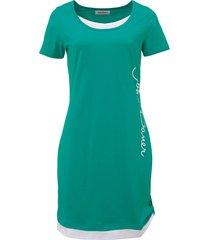 abito in maglina stampato a manica corta (verde) - john baner jeanswear