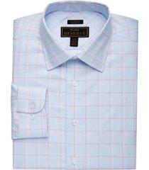 jos. a. bank men's reserve collection tailored fit cutaway collar windowpane dress shirt - big & tall clearance, purple, 17 1/2x36
