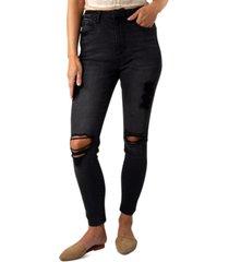 indigo rein juniors' ripped high-rise skinny jeans