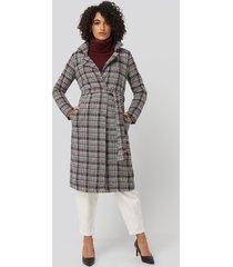 trendyol multi color plaid long coat - multicolor
