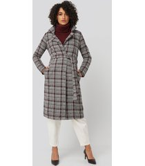 trendyol multi color plaid long coat - multicolor