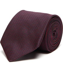 pin embroidered silk tie