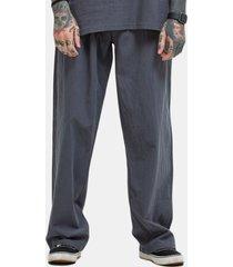 pantaloni palazzo in cotone tinta unita