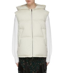'gamble' hooded down puffer gilet