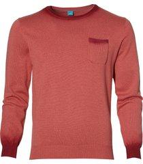 sale - british indigo pullover - slim fit - rood