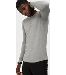 tailored originals knit - mont o neck tröjor light grey melange