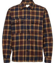 franco shirt overshirts blauw wood wood