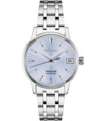 seiko women's automatic presage stainless steel bracelet watch 29mm