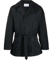 ambush multi-strap trench coat - black