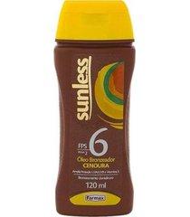 bronzeador sunless cenoura fps 6 óleo - 120g