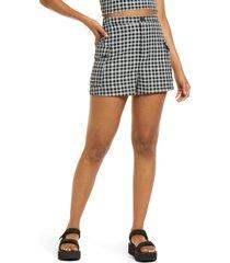 women's bp. plaid cargo shorts, size xx-small - black