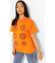 petite zon en maan t-shirt, apricot