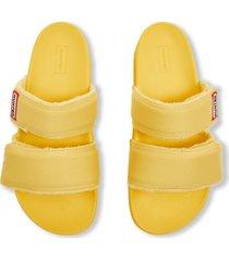 women's double strap slides