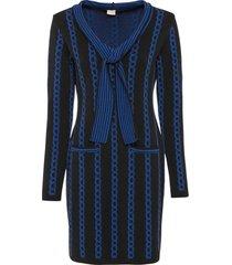 abito in maglia con collo a scialle (nero) - bodyflirt boutique