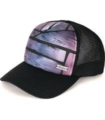 gorra negro-morado-azul skechers
