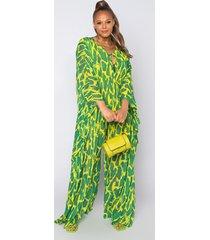 akira plus glam babe green snake print kaftan jumpsuit