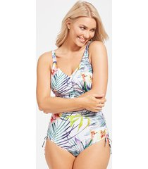 playa blanca underwire adjustable leg one-piece swimsuit
