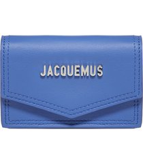 jacquemus azur leather shoulder card-holder