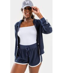 darenn terry cloth shorts - navy