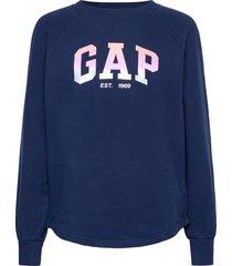 gap shine tunic sweat-shirt tröja blå gap