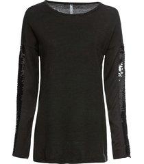 maglione lungo con paillettes (nero) - rainbow