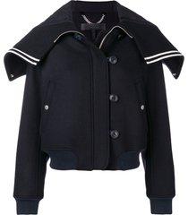 rag & bone zip cropped jacket - blue