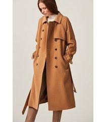 dwurzędowy płaszcz z kaszmiru i wełny