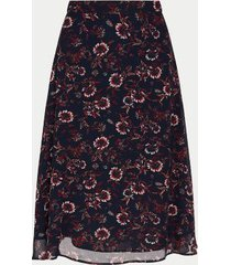 tommy hilfiger women's curve floral chiffon skirt wildfloral print / lakeside - 20