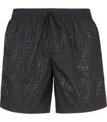 men's fendi boxer lungo ff degrade athletic shorts