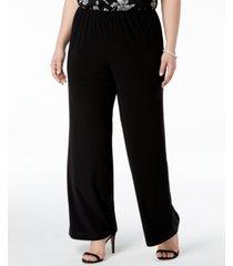 alex evenings plus size wide-leg pants
