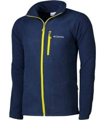 jaqueta columbia fleece fast trek ii collegiate navy azul masculina