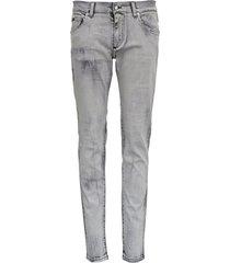 dolce & gabbana jeans in faded gray denim