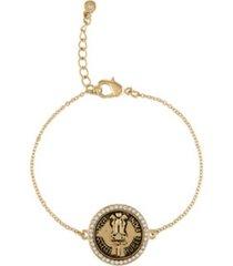 rachel rachel roy gold-tone pave coin flex bracelet