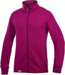 woolpower vest unisex full zip jacket 400 cerise purple-xxs