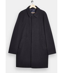 mens navy classic fit overcoat