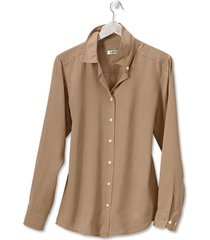 everyday silk shirt, cafe, xl