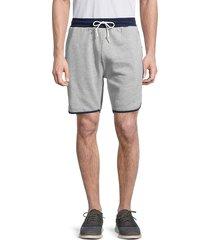 sovereign code men's barkley side-tape heathered shorts - heather grey - size s