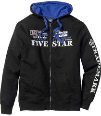 giacca in felpa con cappuccio (nero) - bpc bonprix collection
