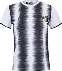 camiseta do santos part - feminina - branco