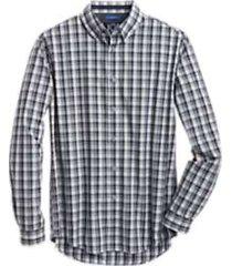 joe joseph abboud repreve® olive plaid slim fit sport shirt