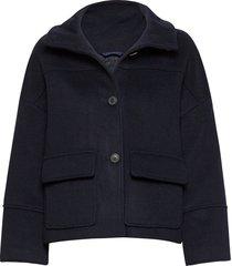 d1. wool blend cropped jacket ulljacka jacka blå gant