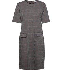 dress knitted fabric jurk knielengte blauw gerry weber