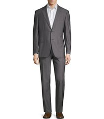 slim-fit super 150 striped wool suit