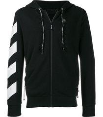 philipp plein statement zipped hoodie - black