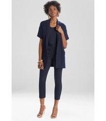 natori beijing textured knit cardigan, luxury women's robe, cotton, size m